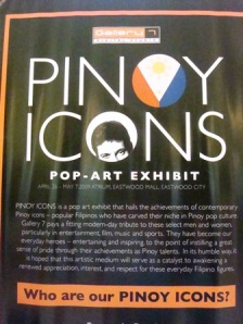 we were lucky to get a chance to see the pinoy icons exhibit at the mall